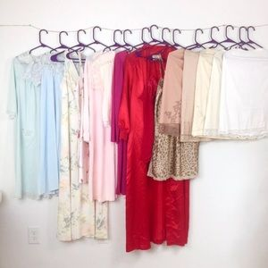 VTG nightgown robe lingerie chemise slip huge lot